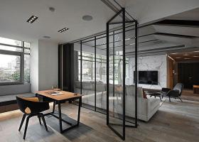 时尚现代风格灰色书房效果图设计