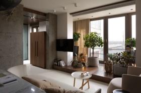2016米色自然简约风格阳台设计装潢