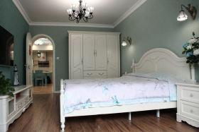 绿色田园风格静雅卧室装修效果图