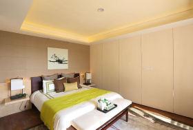 中式米色雅致卧室装饰图