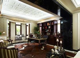 奢华雅致欧式书房装修效果图