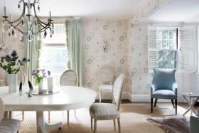 白色淡雅浪漫美式风格餐厅图片赏析