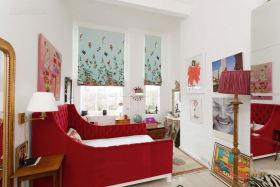 大气优雅红色混搭风格儿童房装饰设计图片