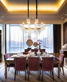 精致新古典浪漫风格华丽餐厅设计装潢