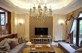华丽精致新古典风格客厅设计图