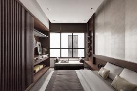 褐色中式古韵卧室装修图片