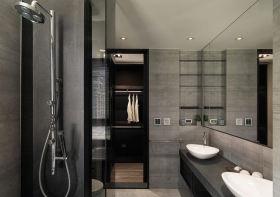 时尚雅致现代灰色卫生间装修案例