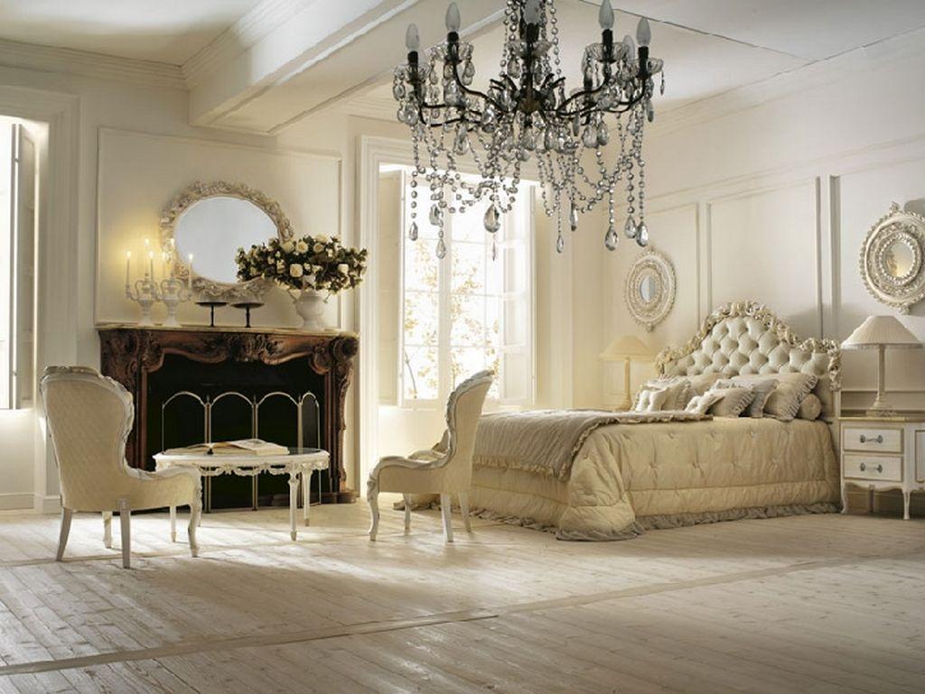 浪漫古典宫廷风欧式风格白色卧室设计案例