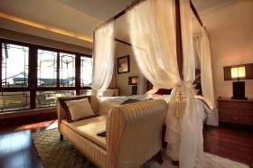 新中式米色卧室装修布置
