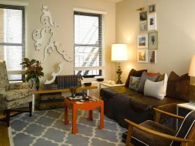 美式清新绿色客厅美图