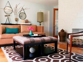 雅致热情橙色东南亚风格客厅装潢