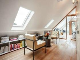 创意休闲时尚米色简约风格阁楼效果图设计