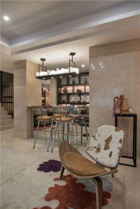 米色新中式风格客厅隔断欣赏