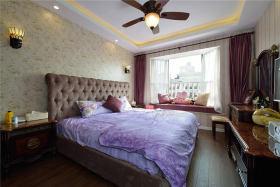 米色美式卧室图片欣赏