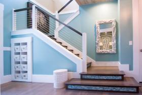 混搭风格蓝色楼梯效果图