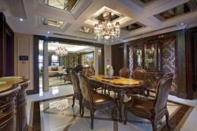 精致奢华新古典雅致餐厅装潢设计