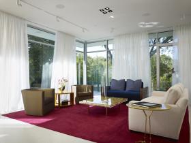 清新自然浪漫混搭风格红色客厅设计图片赏析