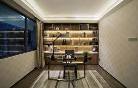 舒适宜家风格米色书房设计装潢