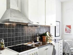 白色精致时尚混搭风格厨房橱柜效果图设计