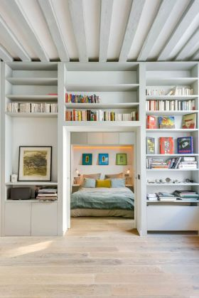 2016创意简约风格收纳壁柜效果图设计