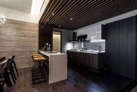 黑色现代风格厨房吧台装潢