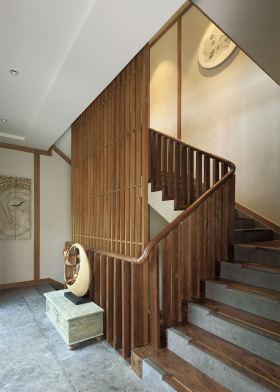 原木雅致中式风格楼梯图片赏析