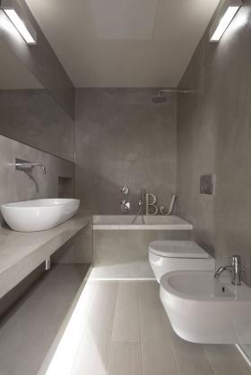 2016灰色现代风格卫生间效果图设计