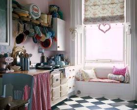 粉色田园浪漫唯美飘窗美图赏析