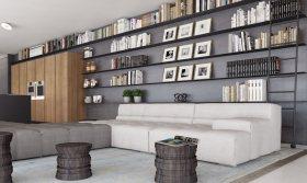 简约风格时尚灰色客厅装修