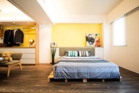 宜家黄色卧室图片赏析