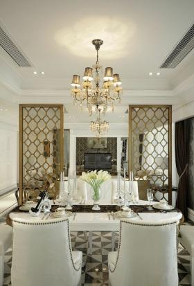 精致新古典优雅风格餐厅装修效果图片