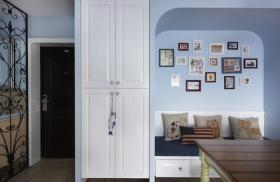 地中海风格蓝色照片墙效果图赏析