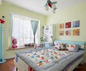 混搭清新多彩儿童房飘窗设计欣赏