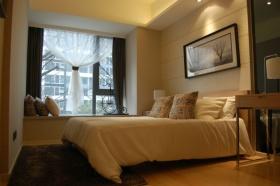 黄色现代混搭风格卧室设计