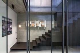 创意精致雅致现代风格灰色楼梯装潢