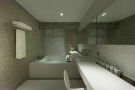 素雅清爽灰色简约风格卫生间装潢设计案例