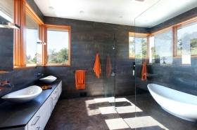 创意大气混搭灰色卫生间设计图片
