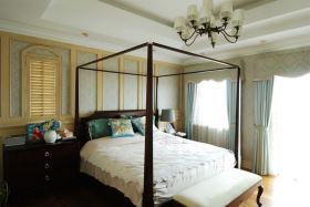 米色东南亚风格卧室装修效果图片