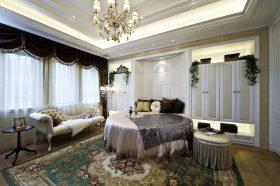欧式奢华白色卧室装饰设计图片