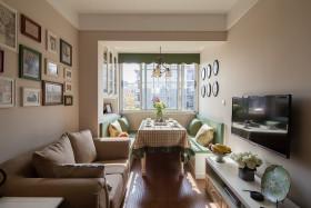 宜家风格休闲米色客厅设计案例