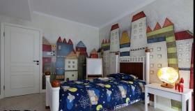 梦幻白色混搭风格儿童房效果图设计
