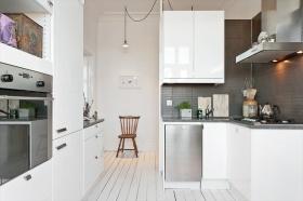 极简白色厨房橱柜效果图欣赏