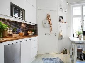 白色简约风格餐厅橱柜设计赏析