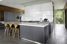 简约灰色厨房橱柜设计欣赏