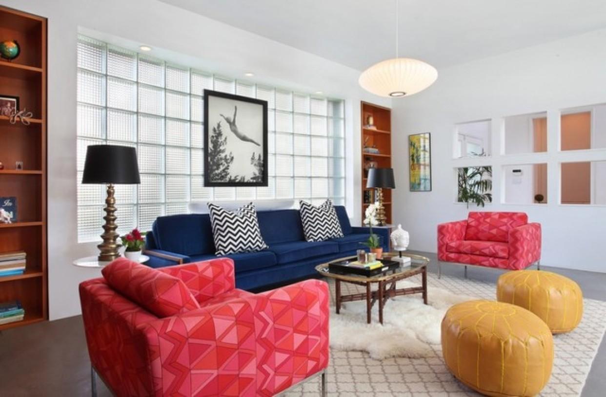 创意混搭白色客厅设计美图