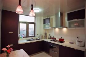 现代风格红色厨房橱柜效果图设计