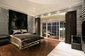 现代风格时尚灰色卧室装潢