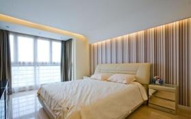 清爽米色简约卧室装饰设计图片