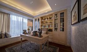 新古典风格灰色书房装修效果图