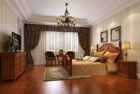 黄色新古典风格卧室吊顶效果图欣赏